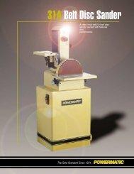 31A Belt Disc Sander - Powermatic