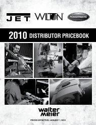 2010 DISTRIBUTOR PRICEBOOK - JET Tools