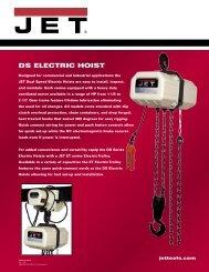 DS ELECTRIC HOIST - JET Tools