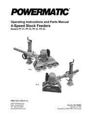 Operating instructions and parts manual 4-speed stock feeders