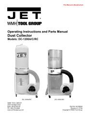 Operating Instructions And Parts Manual Dust Collector ... - JET Tools