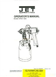 OPERATOR'S MANUAL - JET Tools