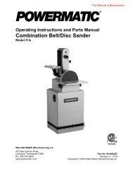 Combination Belt/Disc Sander - Powermatic