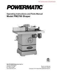 1280100C Manual - Powermatic