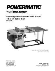Powermatic Model 66 Table Saw Manual.pdf - Woodworkers Guild