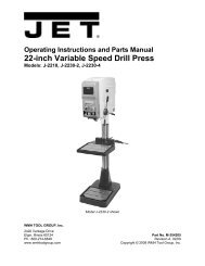 22-inch Variable Speed Drill Press - JET Tools