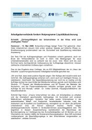 Frühjahrsumfrage 2009« (Presseinformation) - ADK