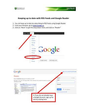 Keeping up to date with RSS Feeds and Google Reader