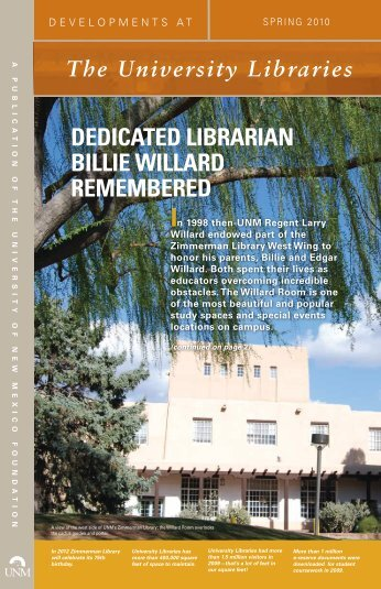 Spring 2010 - University Libraries | The University of New Mexico