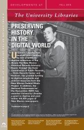 PRESERVING HISTORY IN THE DIGITAL WORLD - University ...