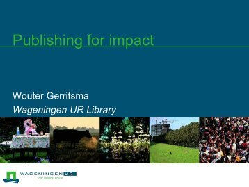 Journal of Risk Research - Wageningen UR