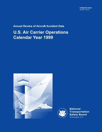 U.S. Air Carrier Operations Calendar Year 1999