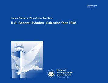 U. S. General Aviation, Calendar Year 1998