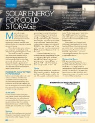 SOLAR ENERGY FOR COLD STORAGE