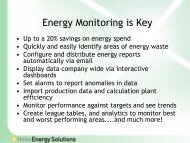 Why Monitor- Energy monitoring is key