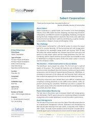 HelioPower Sabert Corporation Case Study