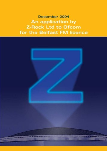 An Application for a local radio licence by Z-Rock ... - Ofcom Licensing