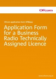 OfW434 Business Radio Technically Assigned ... - Ofcom Licensing