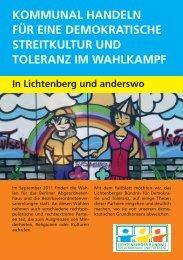 Faltblatt - Lichtenberger Bündnis für Demokratie und Toleranz ...