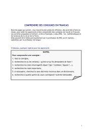 COMPRENDRE DES CONSIGNES EN FRANCAIS