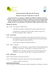 Agenda for Waterford Meeting of the LICI group Monday 15th June ...