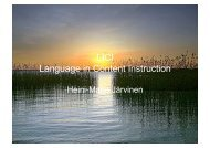 Dissemination (LICI-presentation) - LICI Project