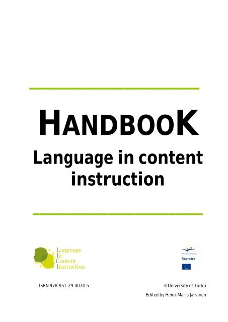 Language in content instruction - LICI Project