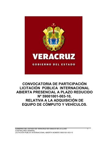 convocatoria de participación licitación pública internacional abierta ...