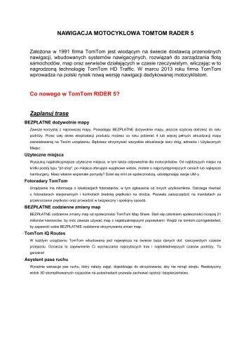 Opis produktu TOMTOM Raider 5 - Lidor.pl