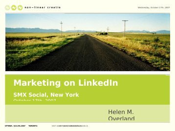 Marketing on LinkedIn - Lifecycle Performance Pros