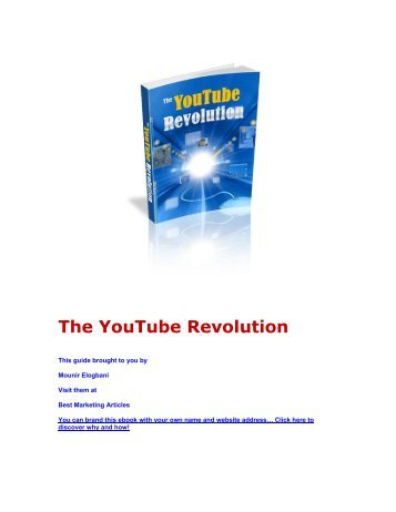 The YouTube Revolution - Lifecycle Performance Pros