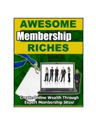 Awesome Membership Riches - Lifecycle Performance Pros