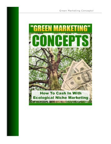 Green Marketing - Lifecycle Performance Pros