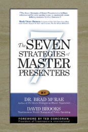 The Seven Strategies of Master Presenters - Lifecycle Performance ...