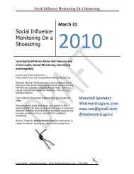Social Influence Monitoring On a Shoestring - Lifecycle Performance ...