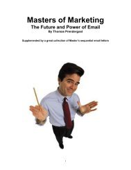 Masters of Marketing - Lifecycle Performance Pros