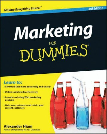 Marketing for Dummies - Lifecycle Performance Pros