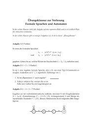 ¨Ubungsklausur zur Vorlesung Formale Sprachen und Automaten