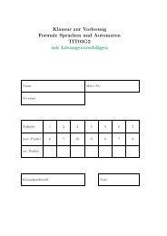 Klausur zur Vorlesung Formale Sprachen und Automaten TIT03G2 ...