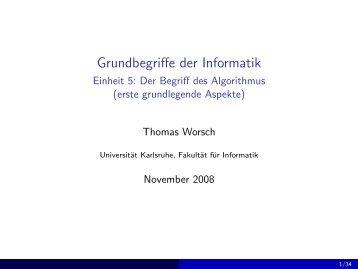 Grundbegriffe der Informatik - Einheit 5: Der Begriff des Algorithmus ...