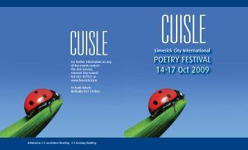 Cuisle 2009 Brochure - Cuisle Poetry Festival