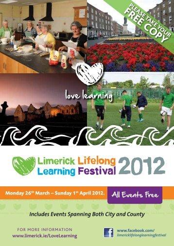Lifelong Learning Festival Brochure 2012 (7261 Kb) - Limerick.ie