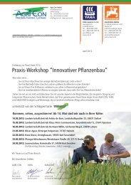 Programm und Anmeldung hier als pdf-Formular zum - Amazone