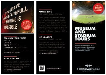 Thomond Park Museum Visits and Stadium Tours - Limerick.ie