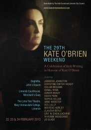 the 29th kate o'brien - Limerick.ie