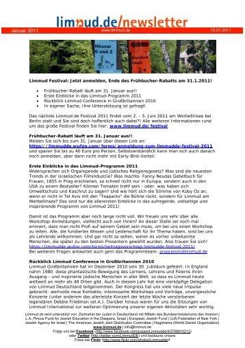 Newsletter 19.01.2011