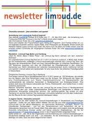 Newsletter 25.12.2011 - Limmud-Tag