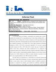 info - Sección Limnología - Facultad de Ciencias