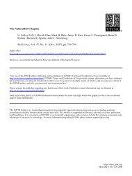 The Natural Flow Regime N. LeRoy Poff - Warner College of Natural ...