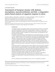 Assessment of European streams with diatoms, macrophytes ...